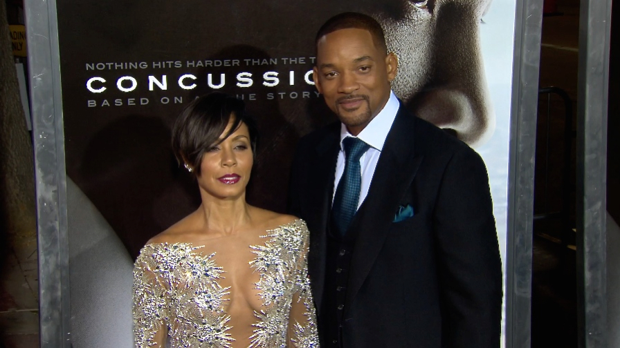 FRANCE ONLY - Will Smith, Jada Pinkett Smith and more at Concussion LA screening