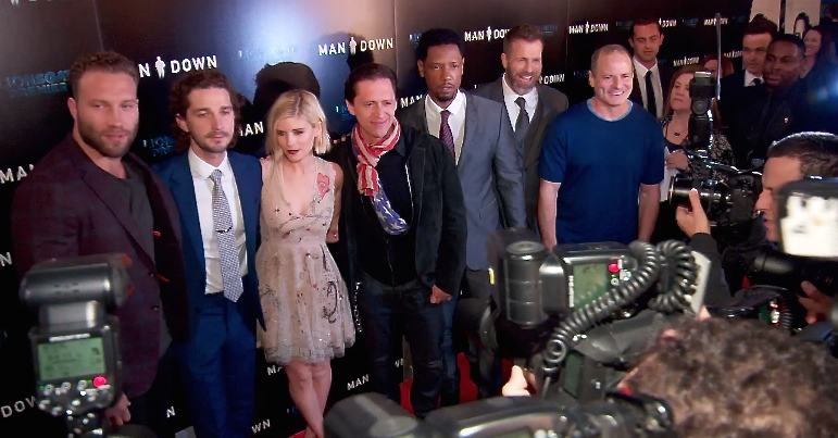 FRANCE ONLY - Shia LaBeouf, Kate Mara and more at Man Down Premiere