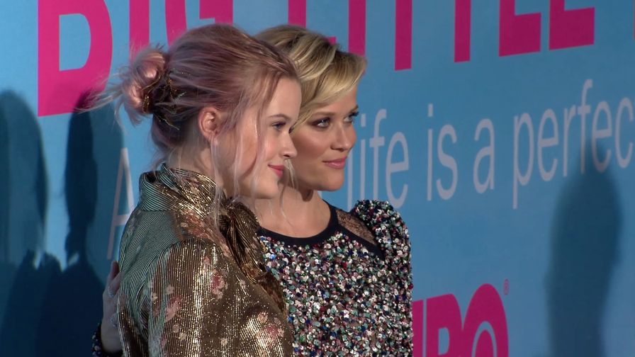 FRANCE ONLY : Reese Witherspoon and daughter Ava Phillippe at the Big Little Lies premiere in LA