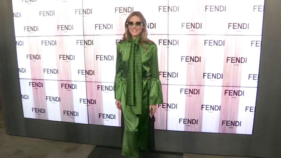 Olivia Palermo and more at the Fendi fashion show in Milan