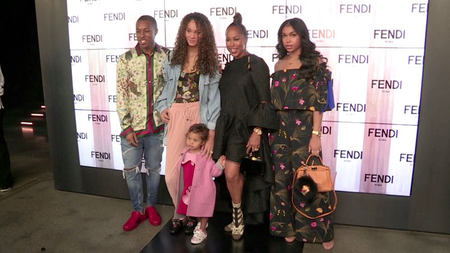 Marjorie Harvey, her family and more at the Fendi fashion show in Milan