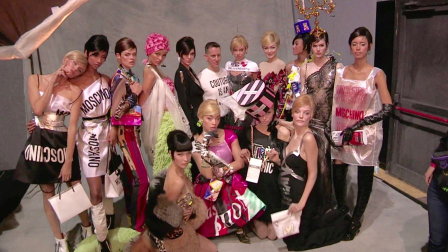 DO NOT CREDIT - Kendall Jenner, Bella Hadid, Gigi Hadid and more backstage at the Moschino fashion s