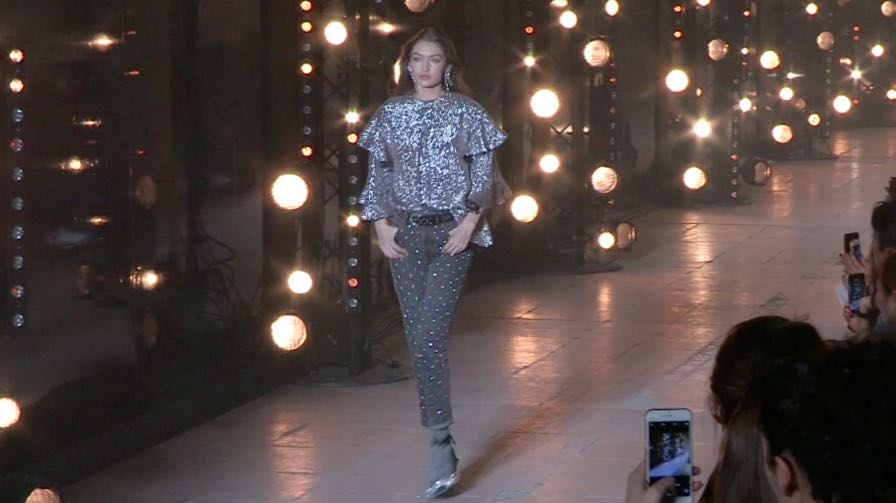 Gigi Hadid, Caroline Murphy, Amber Valetta and more on the runway for the Isabel Marant fashion show