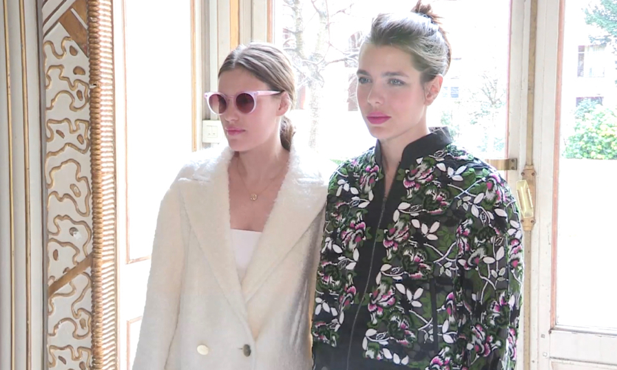 Charlotte Casiraghi and Juliette Dol at Giambattista Valli fashion show