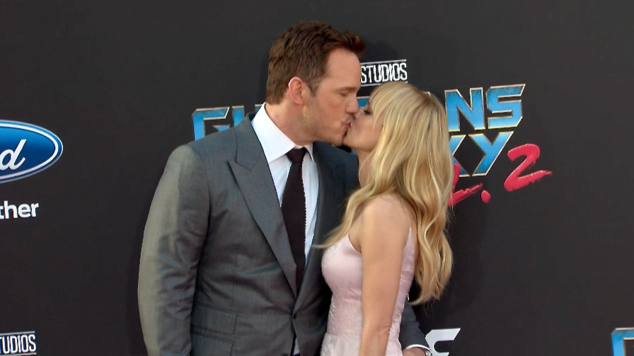 FRANCE ONLY - Chris Pratt and Anna Faris at Guardians of the Galaxy Vol. 2 Premiere