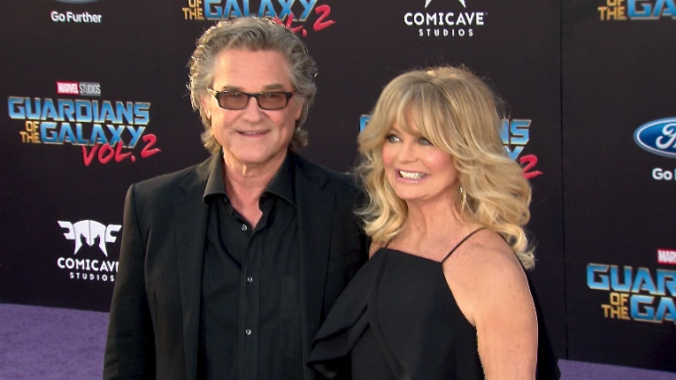 FRANCE ONLY - Kurt Russell and Goldie Hawn at Guardians of the Galaxy Vol. 2 Premiere