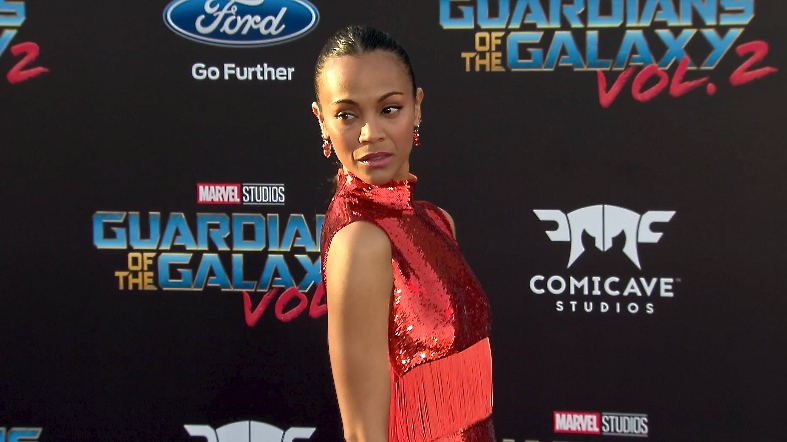 FRANCE ONLY - Zoe Saldana at Guardians of the Galaxy Vol. 2 Premiere
