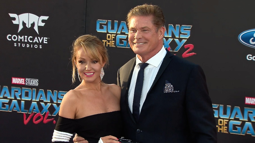 FRANCE ONLY - David Hasselhoff and Hayley Roberts at Guardians of the Galaxy Vol. 2 Premiere
