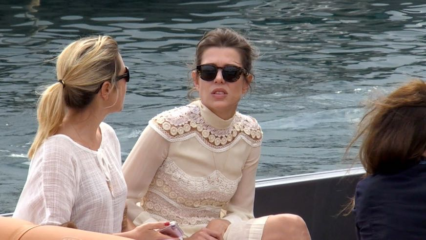 EXCLUSIVE : Charlotte Casiraghi arriving in boat at Port Canto in Cannes