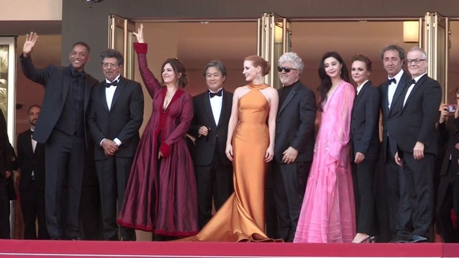 Will Smith and The Jury on the red carpet for the 70th Anniversary of the Cannes Film Festival.