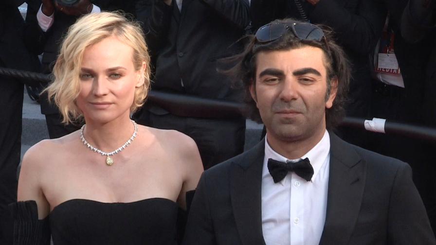 Diane Kruger and director Fatih Akin on the red carpet in Cannes