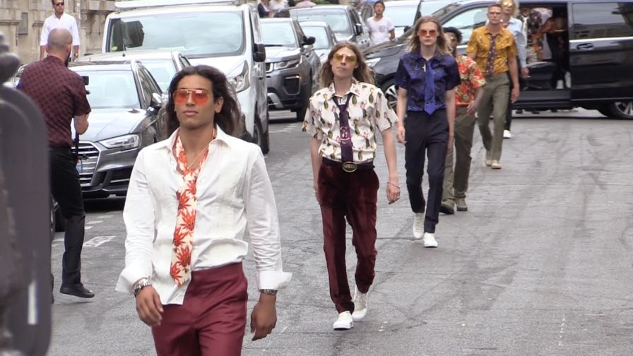 SSS World Corp fashion show in the streets in Paris