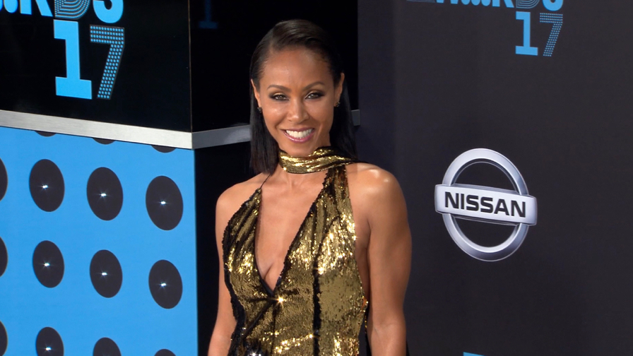 FRANCE ONLY - Jada Pinkett Smith, Queen Latifah, Jamie Foxx and more at the BET Awards 2017