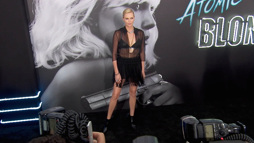 FRANCE ONLY - Charlize Theron, Chelsea Handler, Lilly Singh and more at Atomic Blonde Premiere