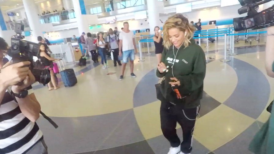 FRANCE ONLY - Rita Ora Plays With A Fidget Spinner As She Arrives In Los Angeles