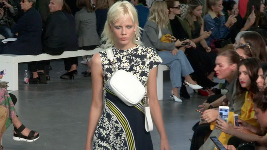 Models on the runway for the Sportmax Fashion Show in Milan