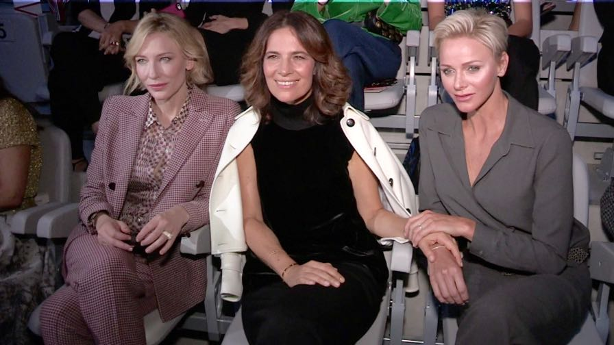 Lewis Hamilton, Cate Blanchett, Charlene Wittstock and more front row for the Giorgio Armani show