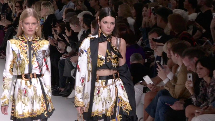 Gigi  Bella Hadid, Kendall Jenner, Kaia Gerber and more on the runway for the Versace Fashion Show