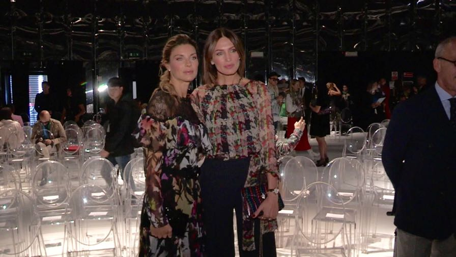 Nieves Alvarez and more front row for the Blumarine Fashion Show