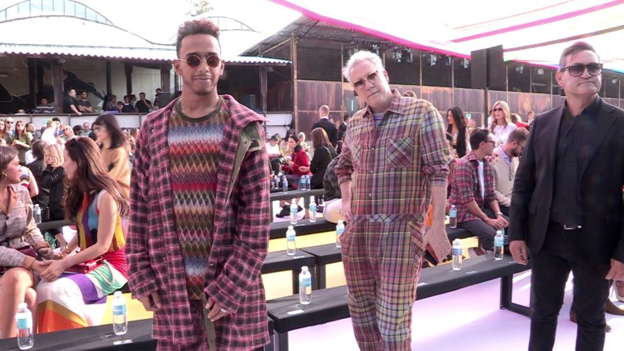 Lewis Hamilton and more front row for the Missoni Fashion Show