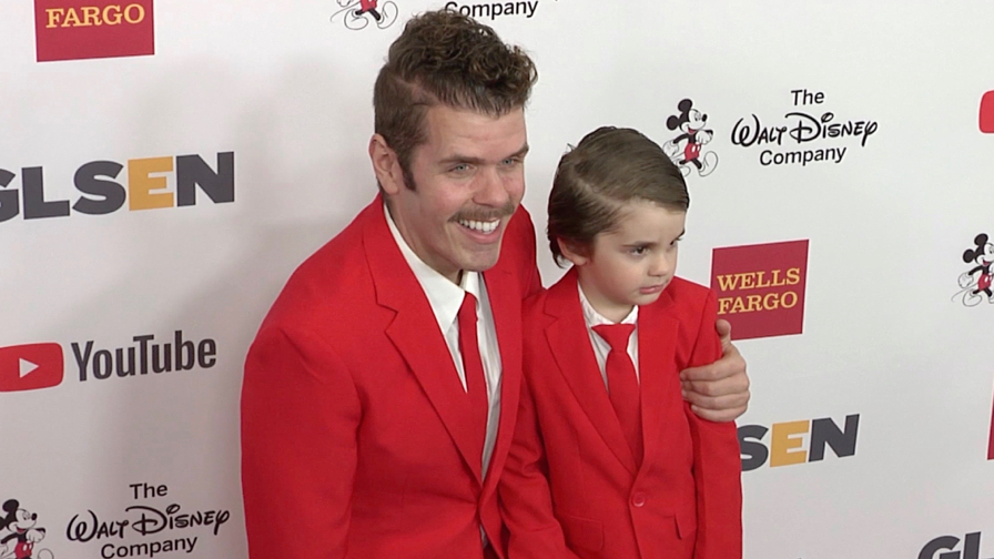 Perez Hilton and son at GLSEN Respect Awards 2017