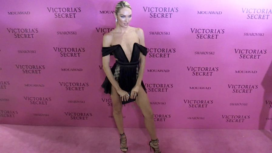 Candice Swanepoel on the Pink Carpet after the Victoria Secret Fashion Show in Shanghai