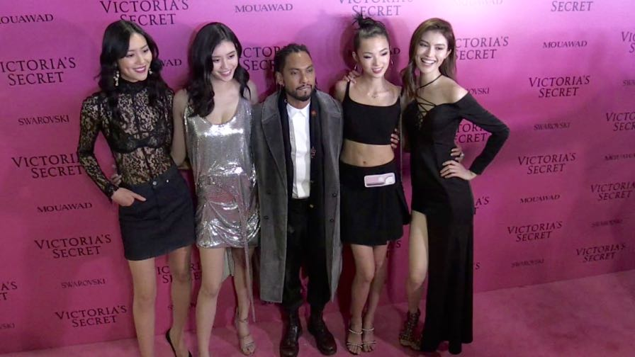 Liu Wen, Lais Ribeiro and more on the Pink Carpet after the Victoria Secret Fashion Show in Shanghai