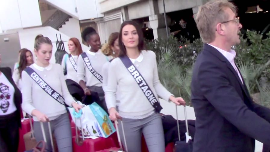 FRANCE ONLY - Miss France 2018 Contestants Arrive In Los Angeles