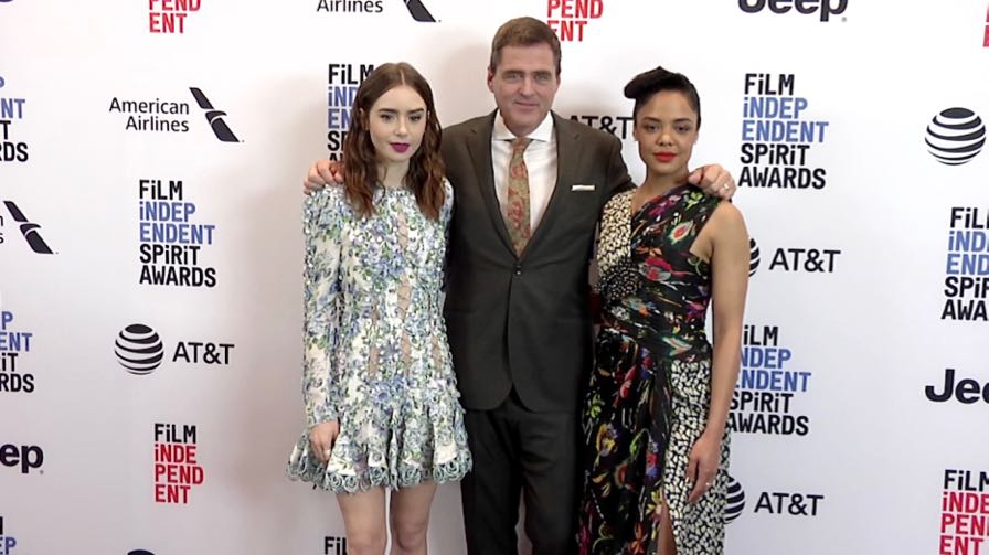Lily Collins and more on the red carpet for Film Independent 2018 Spirit Awards press conference