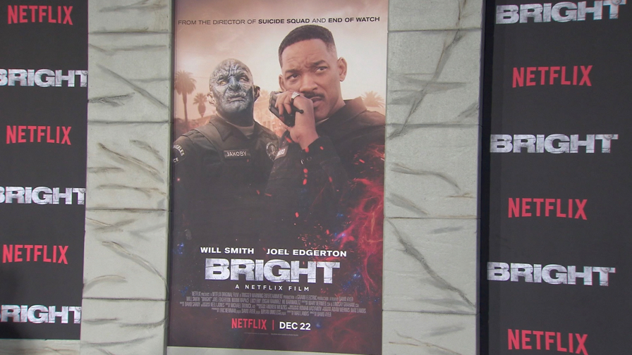 FRANCE ONLY - Will Smith, Noomi Rapace, Joel Edgerton and more at Bright Premiere in LA