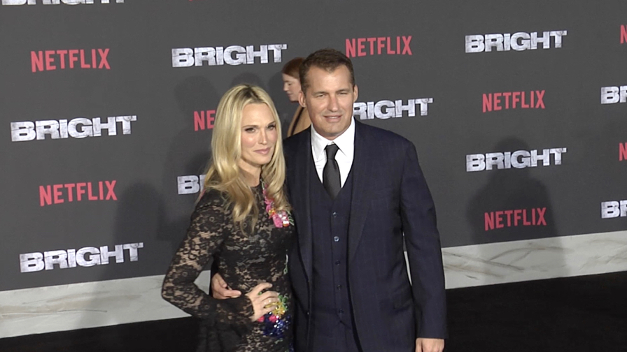 Molly Sims and Scott Stuber at Bright Premiere in Los Angeles