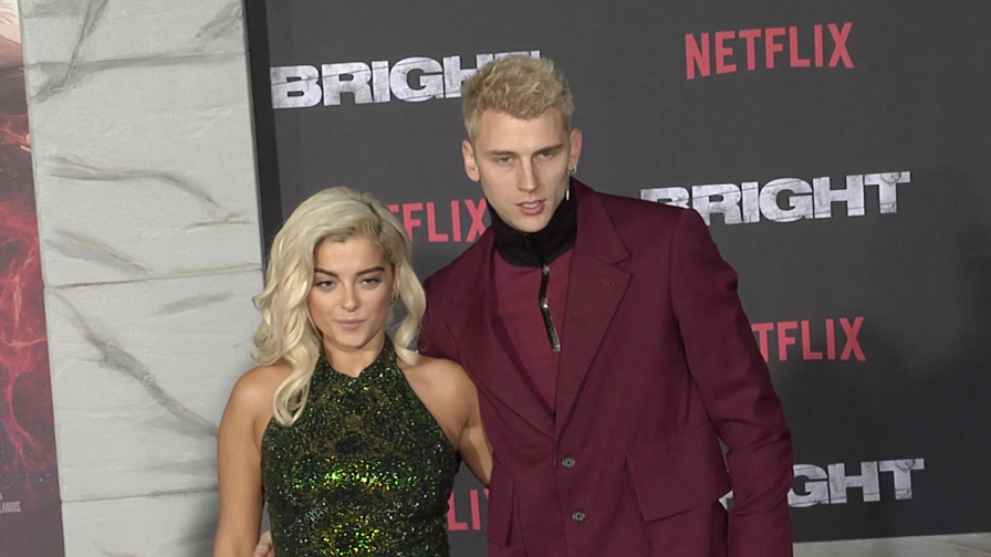 Machine Gun Kelly and Bebe Rexha at Bright Premiere in Los Angeles