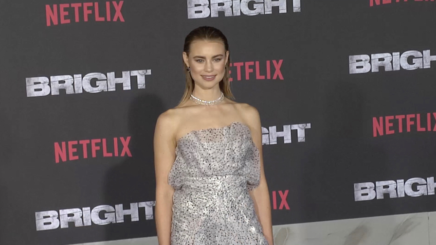Lucy Fry at Bright Premiere in Los Angeles