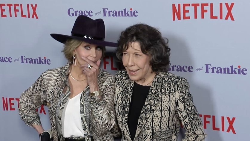 Jane Fonda and Lily Tomlin at Grace and Frankie Season 4 premiere