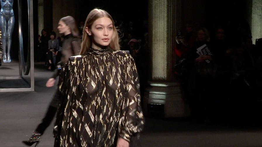 Gigi and Bella Hadid, Kaia Gerber and more on the runway for the Alberta Ferretti Fashion Show