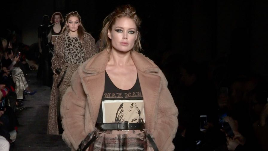 Doutzen Kroes, Lara Stone, Kaia Gerber, Gigi Hadid and more on the runway for the Max Mara Show