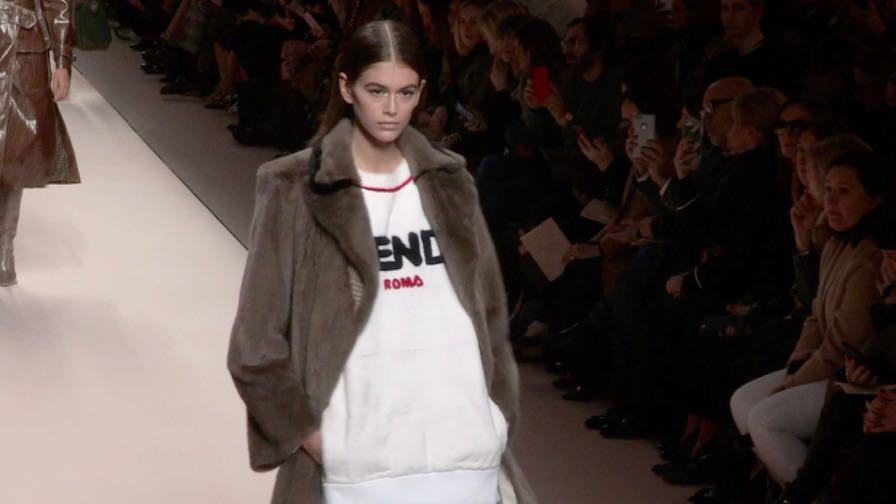 Kaia Gerber, Gigi Hadid, Adwoa Aboah and more on the runway for the Fendi Show