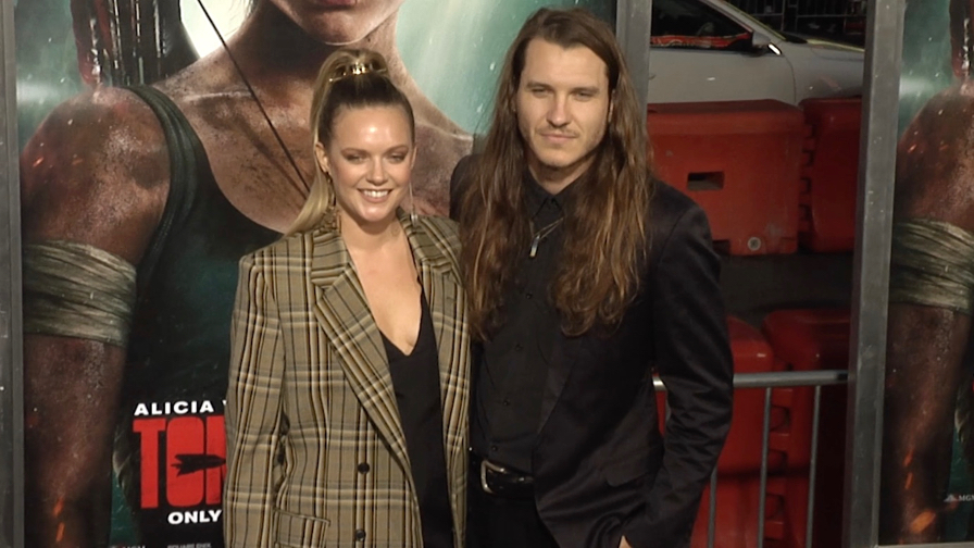 Tove Lo and Charlie Twaddle at Tomb Raider Premiere in Los Angeles