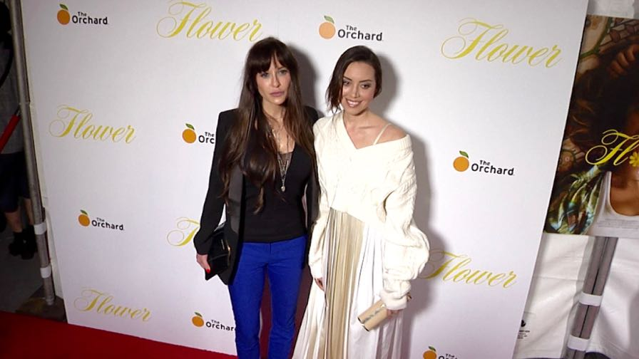 Aubrey Plaza on the red carpet for the Premiere Of The Orchard s Flower at ArcLight Cinemas in Holly