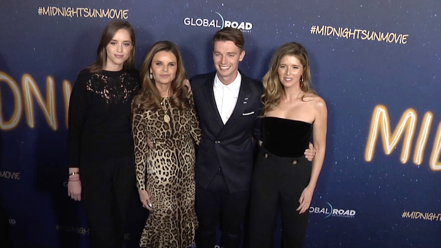 Maria Shriver and kids at Midnight Sun Los Angeles film premiere