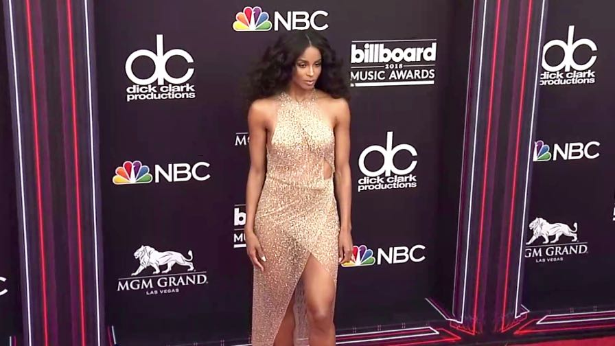 Ciara on the red carpet for the 2018 Billboard Music Awards