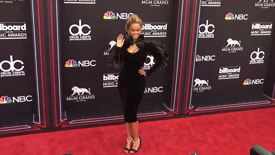 Tyra Banks and more on the red carpet for the 2018 Billboard Music Awards