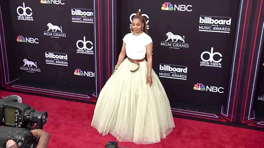 Janet Jackson on the red carpet for the 2018 Billboard Music Awards
