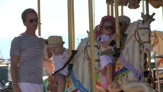 Mary,go,round for Neil Patrick Harris and David Furnish's kids at Saint Tropez